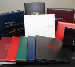 Award covers, custom padded certificate holders, custom diploma ...